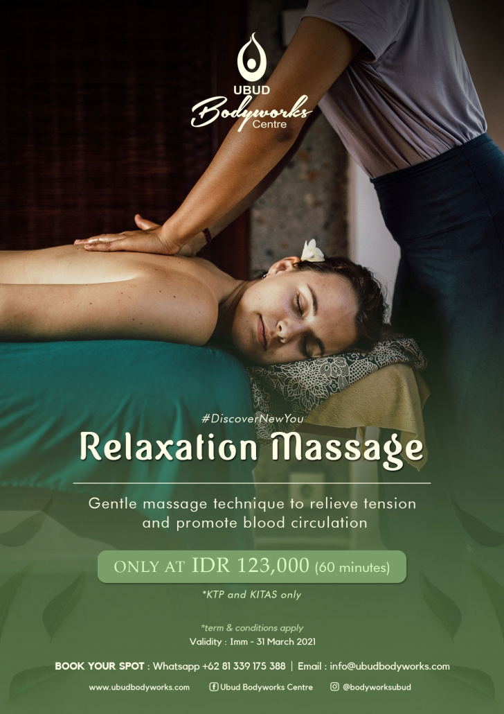 Relaxation Massage at ubud bodyworks